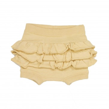 Memini Hilde Knit Bloomer - Pale Yellow
