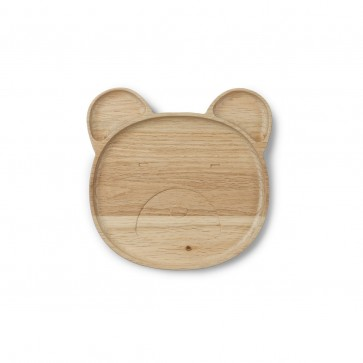Liewood Conrad Wooden Plate - Mr.Bear