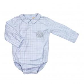Memini Albert Bodyskjorte - Blårutet