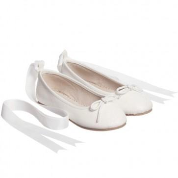 Ballerinasko Glitter - Hvit