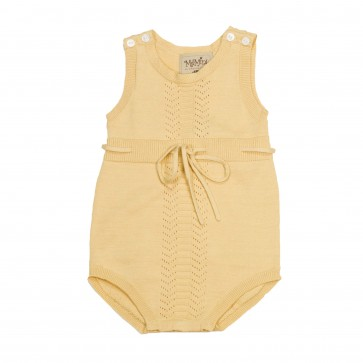 Memini Kira Romper - Pale Yellow