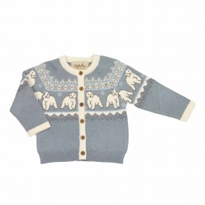 Memini Cub Cardigan - Grey Blue